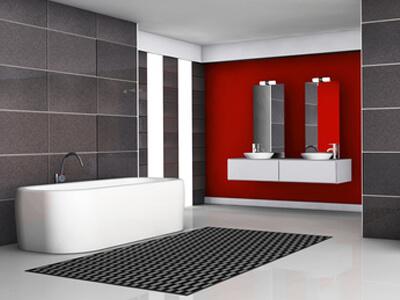 Ein Bad in Trendfarben