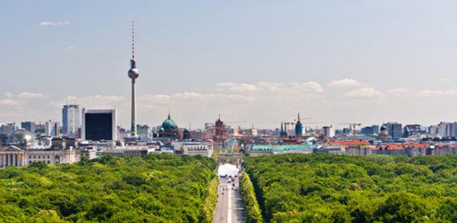 Blick auf den Fernsehturm Berlin