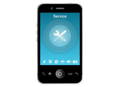 Ein Smartphone ist nach einer Handyreparatur wieder funktionstüchtig.