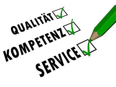 die Zusicherung von Qualität, Kompetenz und Service beim Kauf eines Handys in einem Handyshop