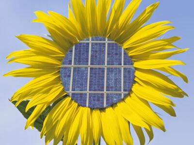 Solaranlagen produzieren umweltfreundlich Strom.