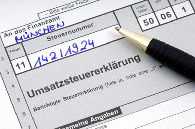Formular zur Steuererklärung